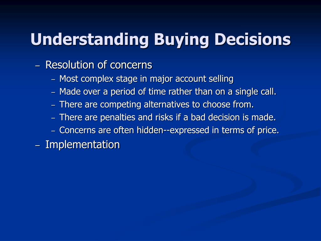 Understanding Buying Decisions