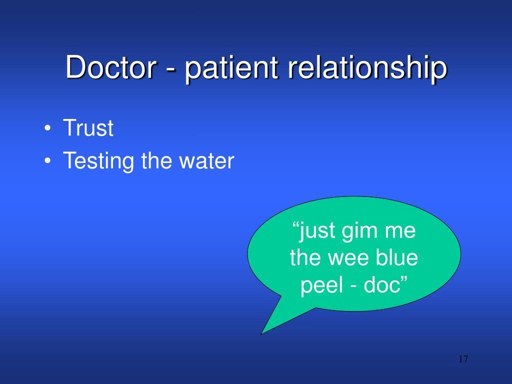 Doctor - patient relationship