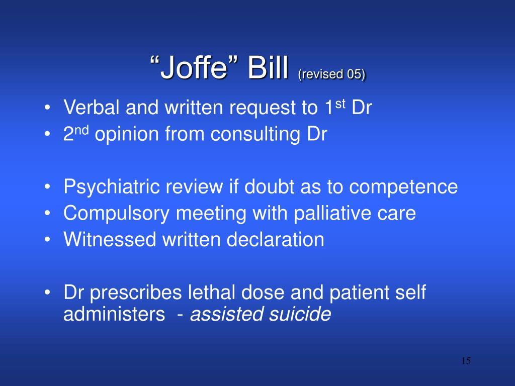 """""""Joffe"""" Bill"""