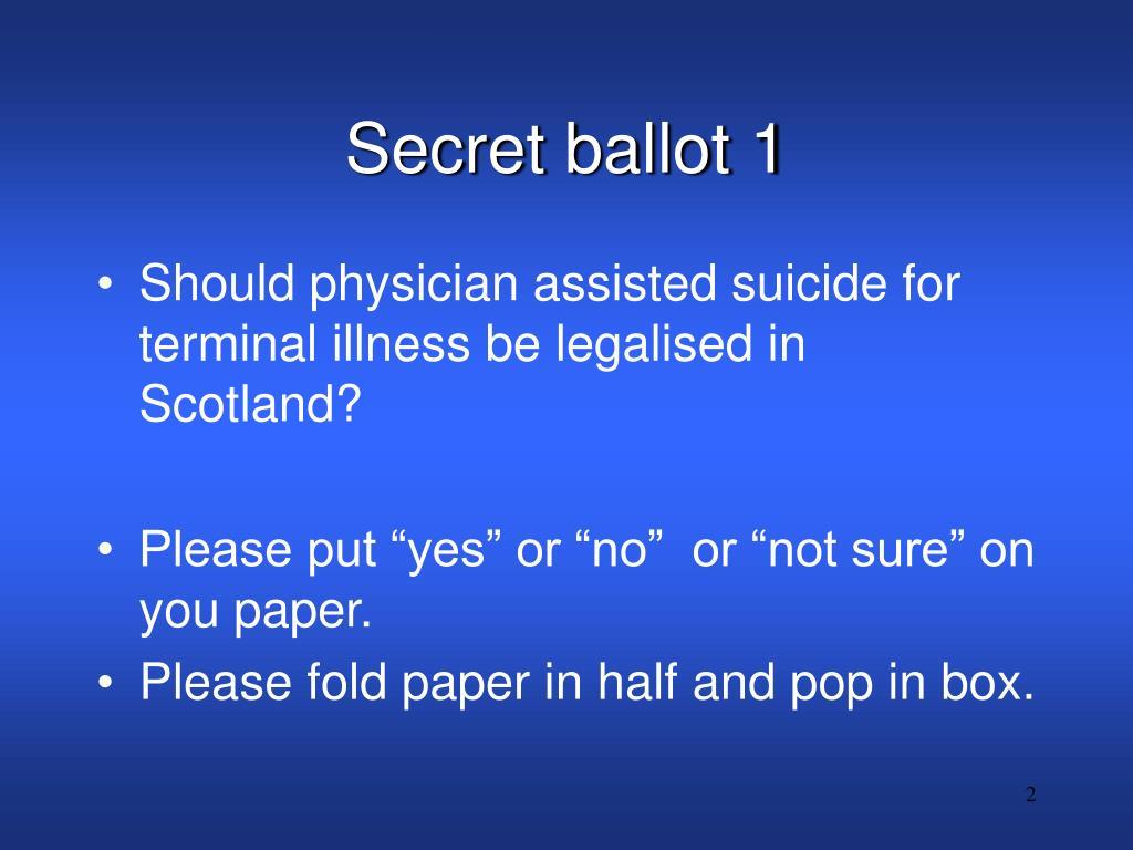 Secret ballot 1