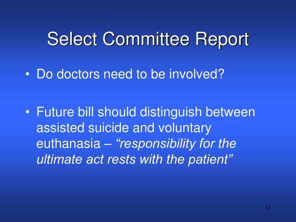Select Committee Report