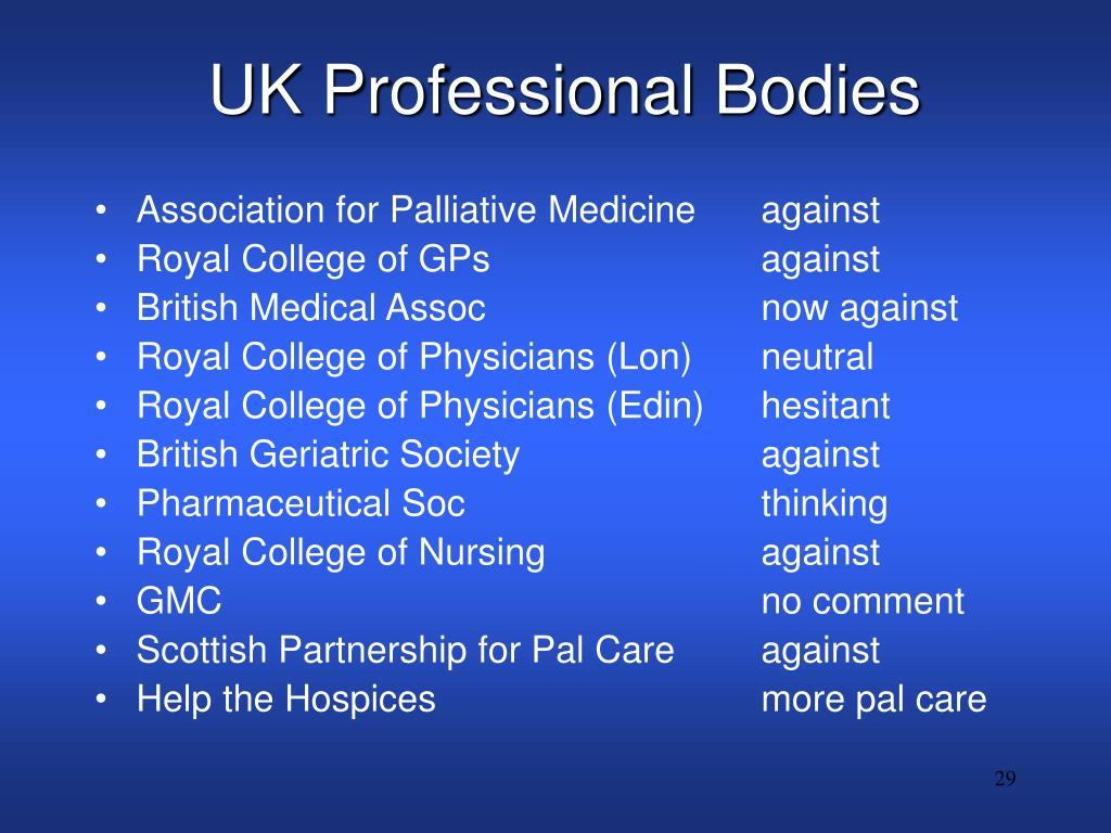 UK Professional Bodies