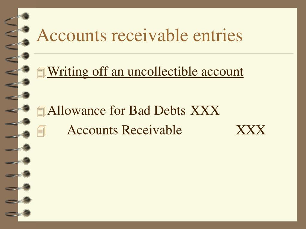 Accounts receivable entries
