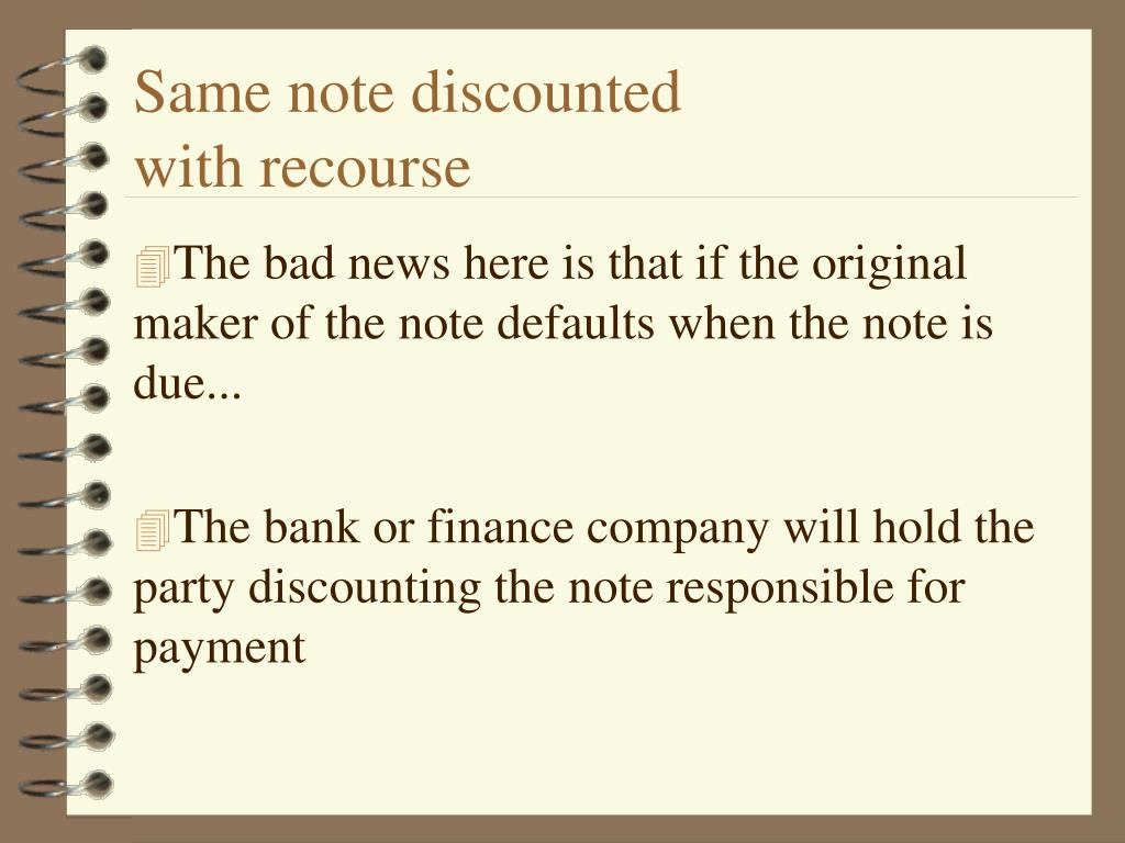 Same note discounted