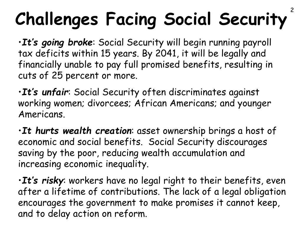 Challenges Facing Social Security