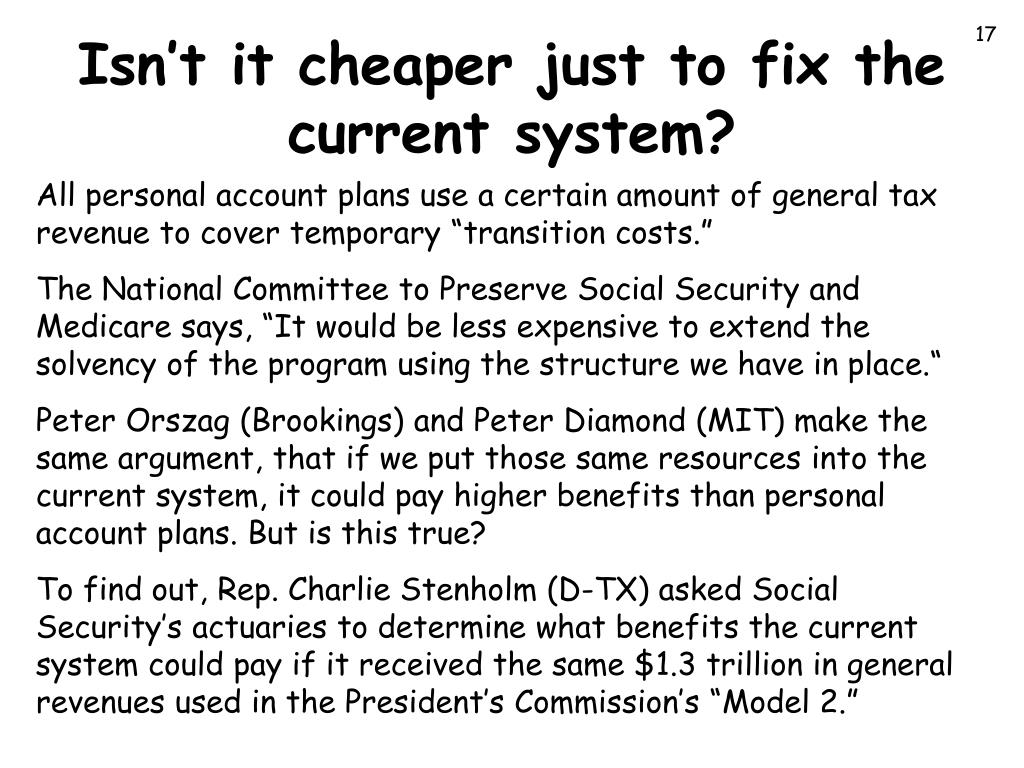 Isn't it cheaper just to fix the current system?