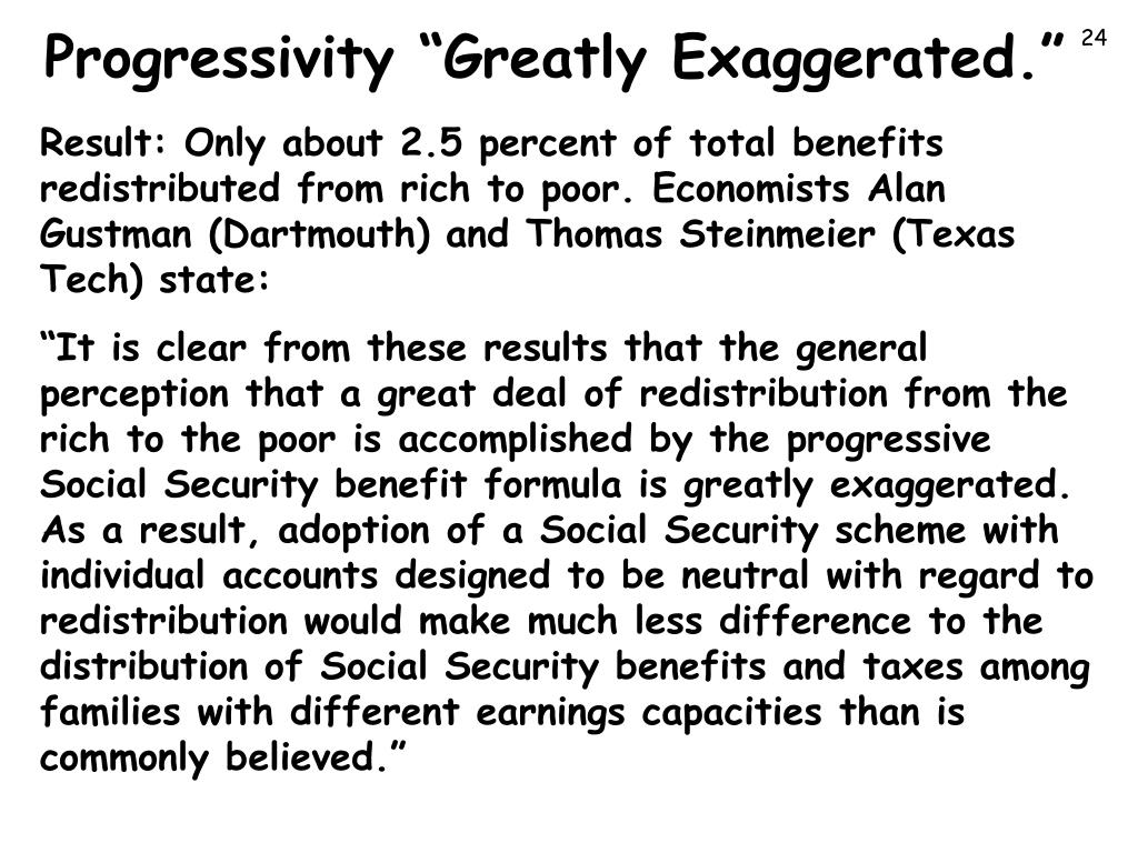 "Progressivity ""Greatly Exaggerated."""