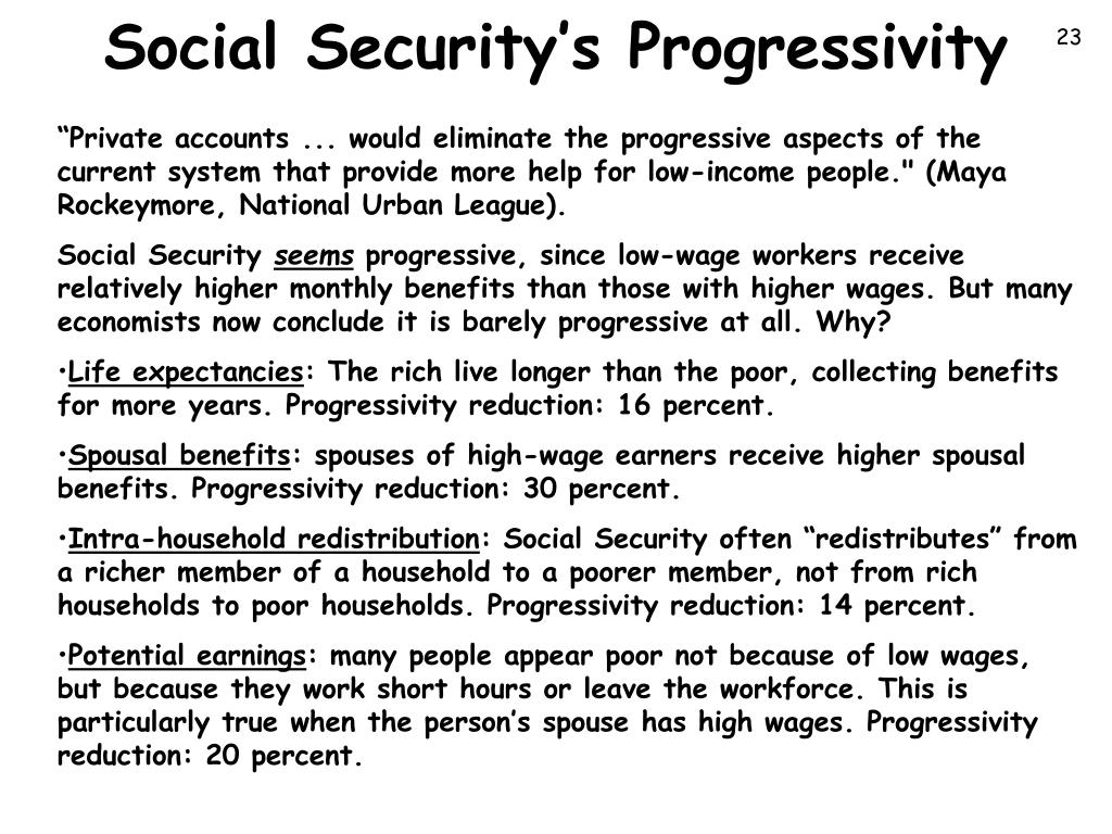 Social Security's Progressivity