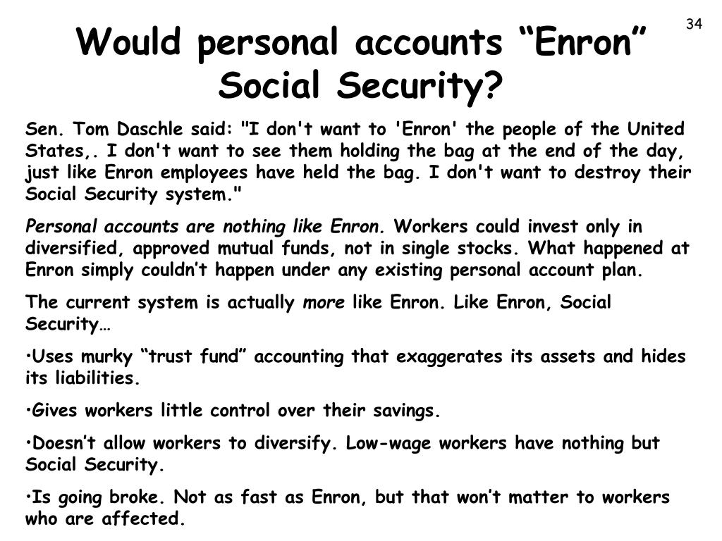 "Would personal accounts ""Enron"""