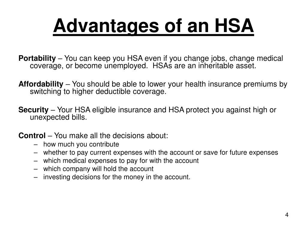 Advantages of an HSA