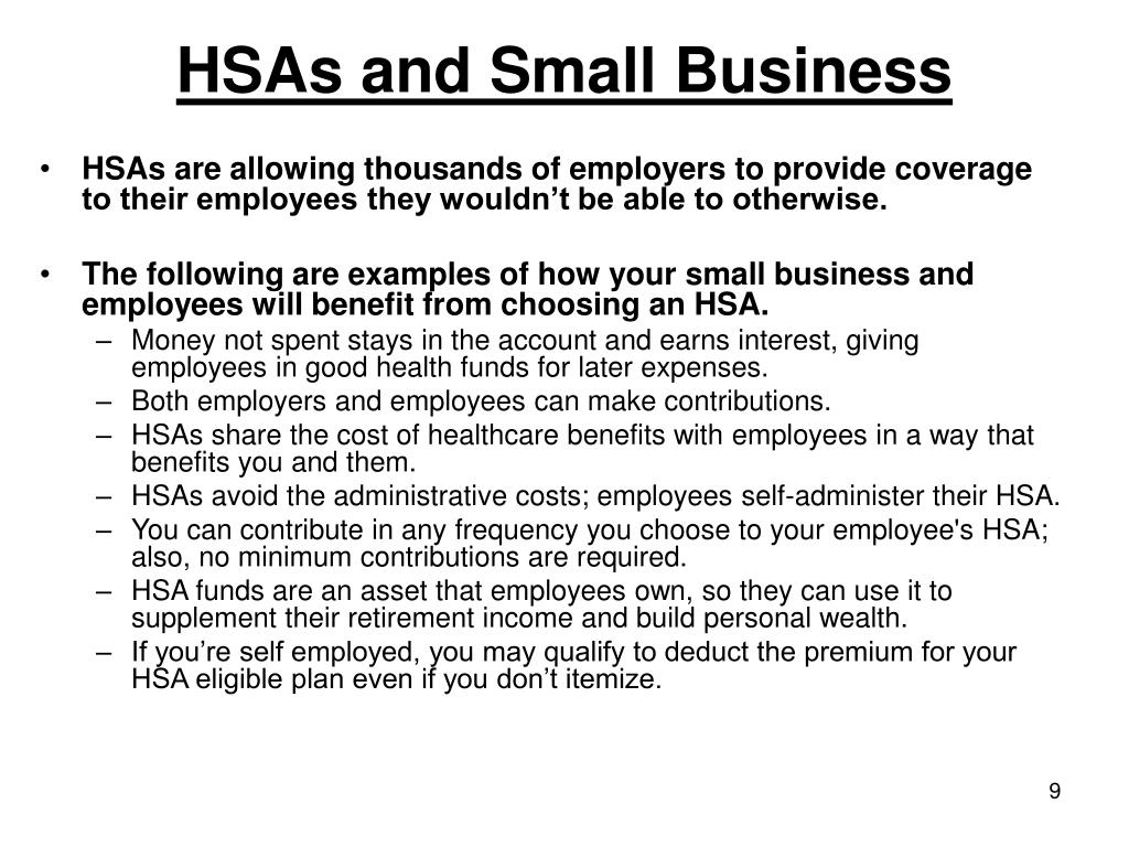 HSAs and Small Business
