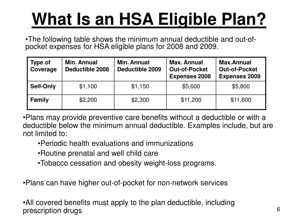 What Is an HSA Eligible Plan?