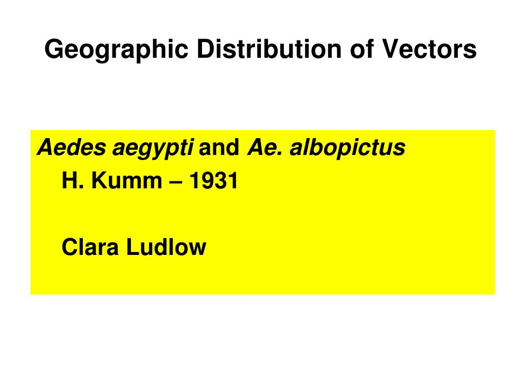 Geographic Distribution of Vectors