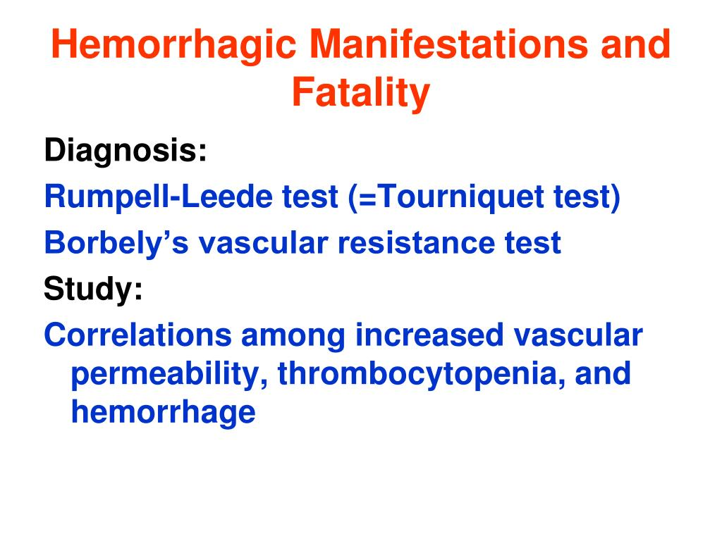 Hemorrhagic Manifestations and Fatality