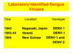 laboratory identified dengue viruses