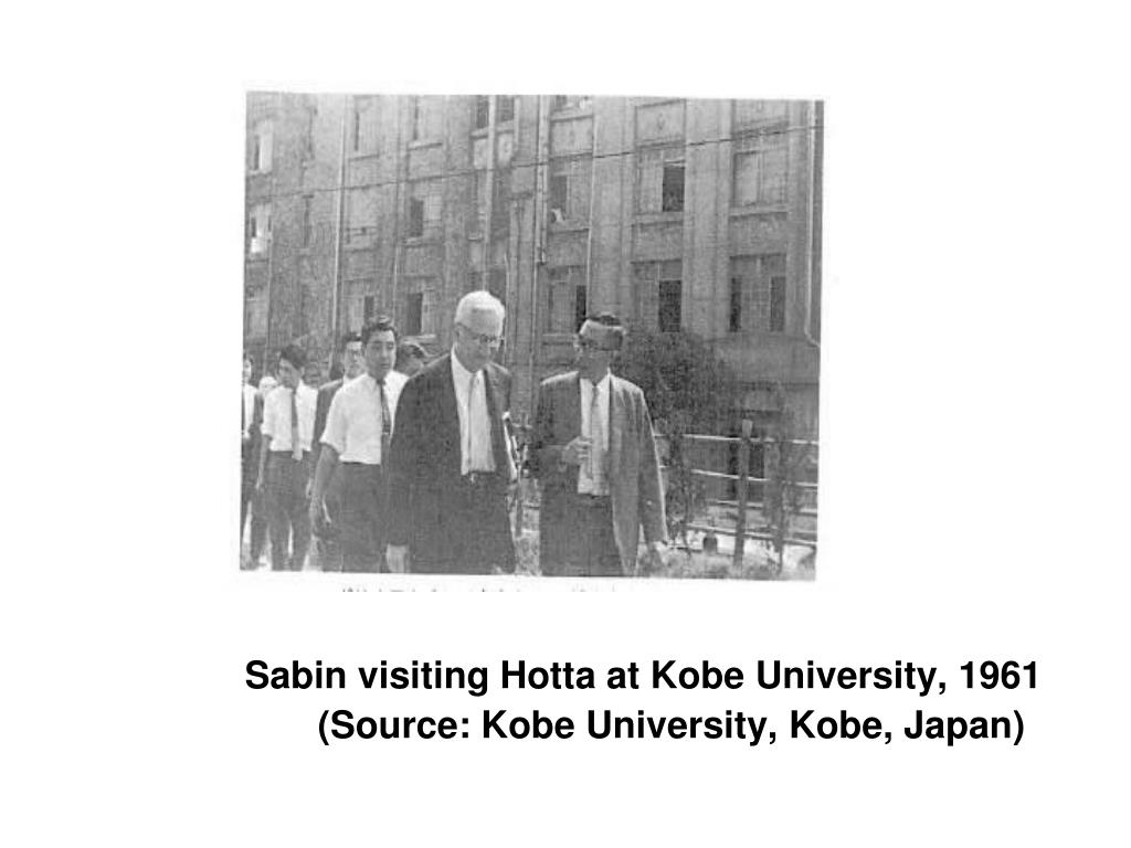 Sabin visiting Hotta at Kobe University, 1961