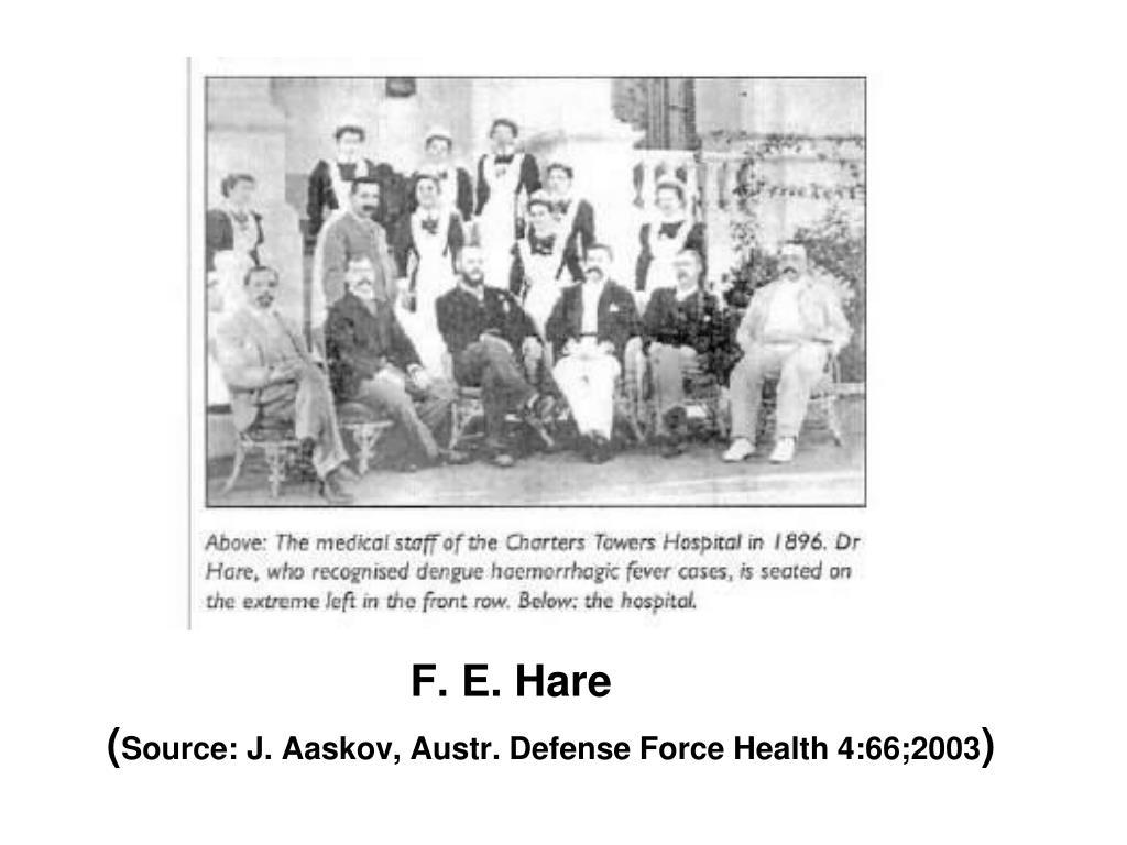 F. E. Hare