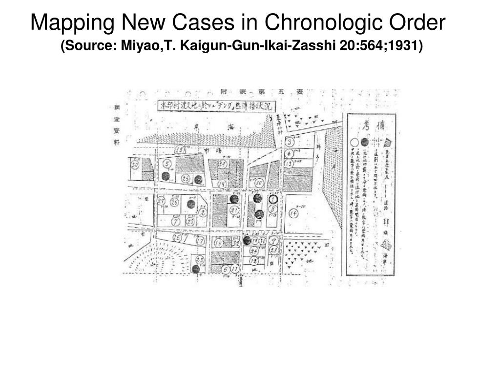 Mapping New Cases in Chronologic Order