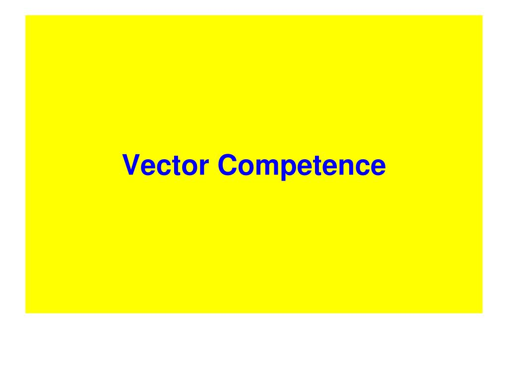 Vector Competence