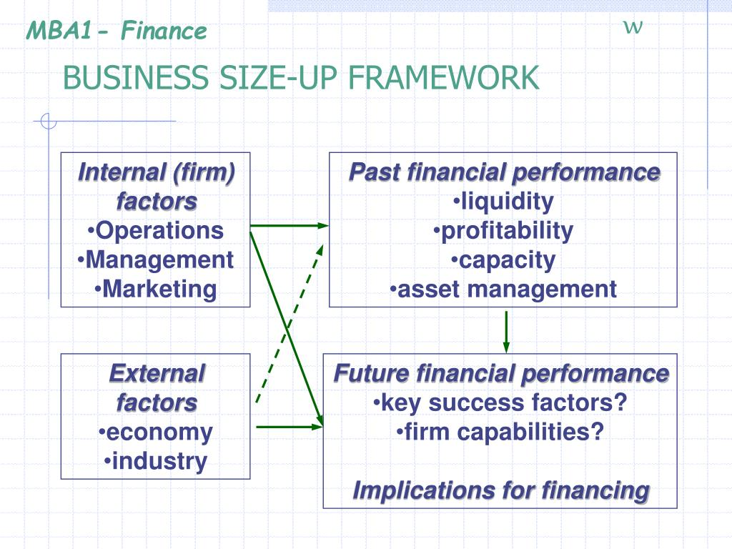 BUSINESS SIZE-UP FRAMEWORK