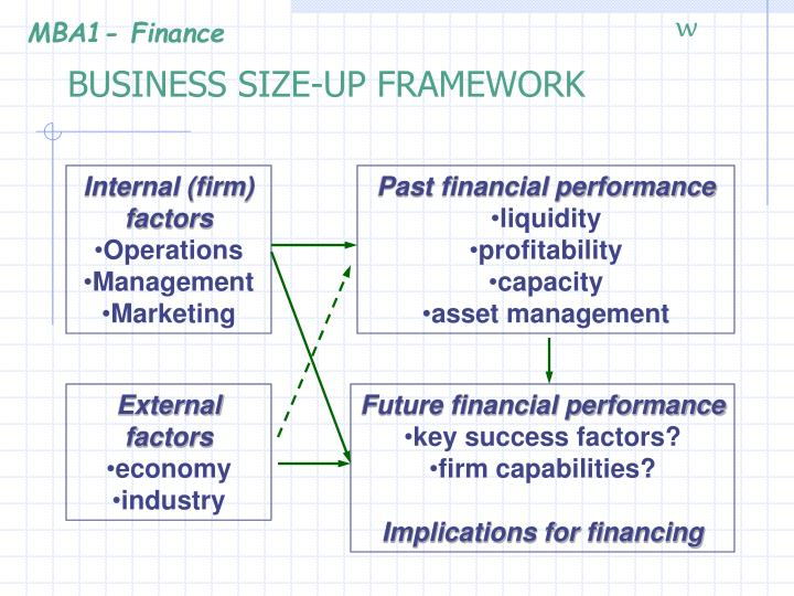 Business size up framework