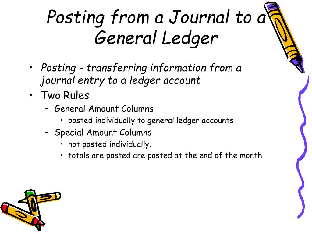 Posting from a Journal to a General Ledger