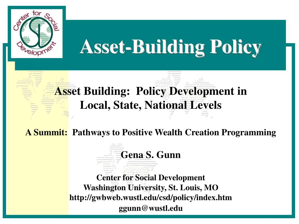 Asset Building:  Policy Development in