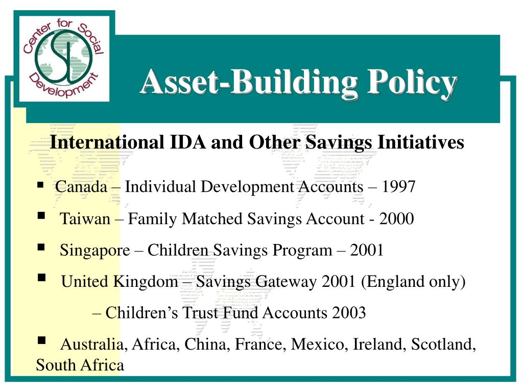 International IDA and Other Savings Initiatives