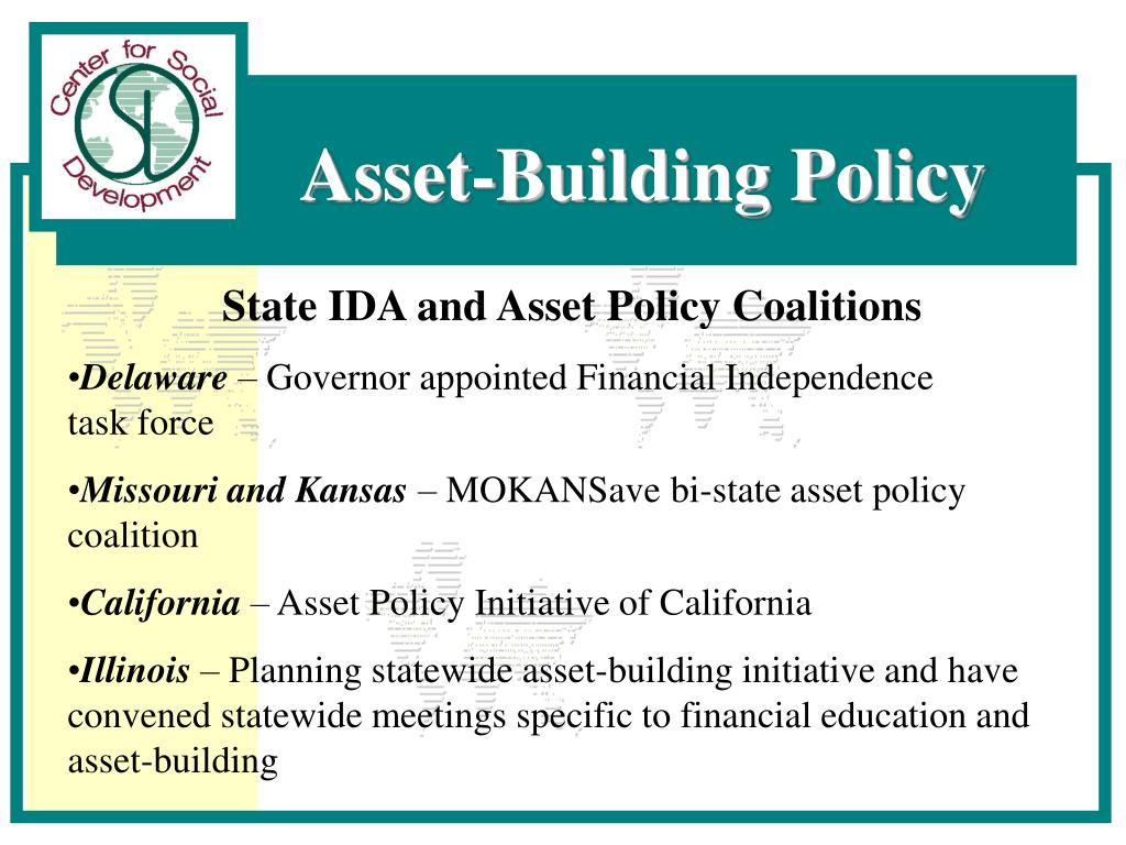 State IDA and Asset Policy Coalitions