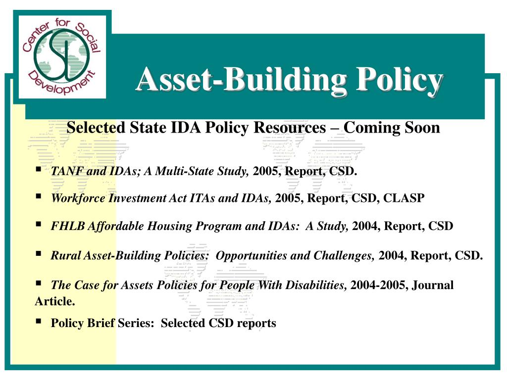 Selected State IDA Policy Resources – Coming Soon