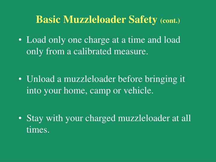Basic Muzzleloader Safety