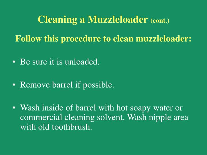 Cleaning a Muzzleloader