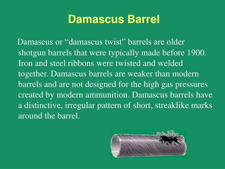 Damascus Barrel