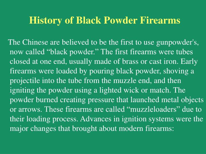 History of Black Powder Firearms