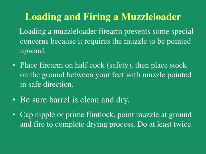 Loading and Firing a Muzzleloader