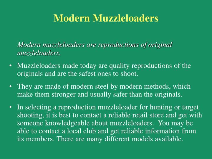 Modern Muzzleloaders