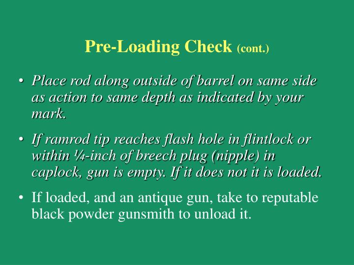 Pre-Loading Check