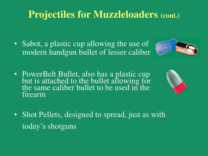 Projectiles for Muzzleloaders