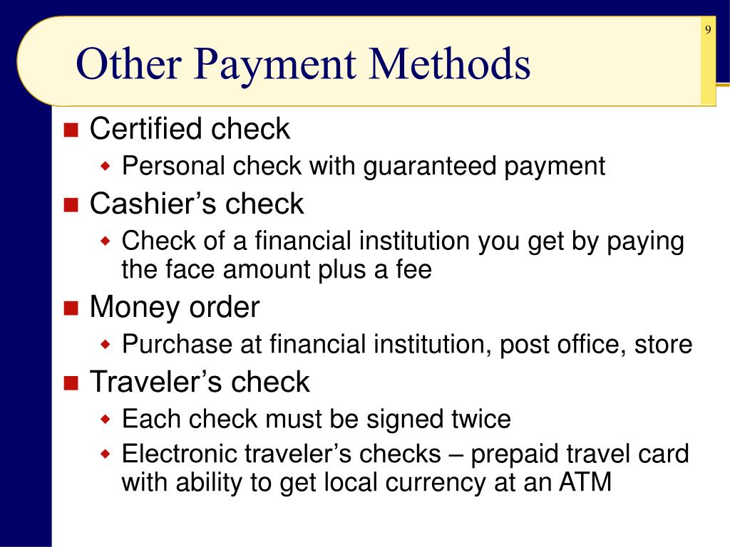Other Payment Methods