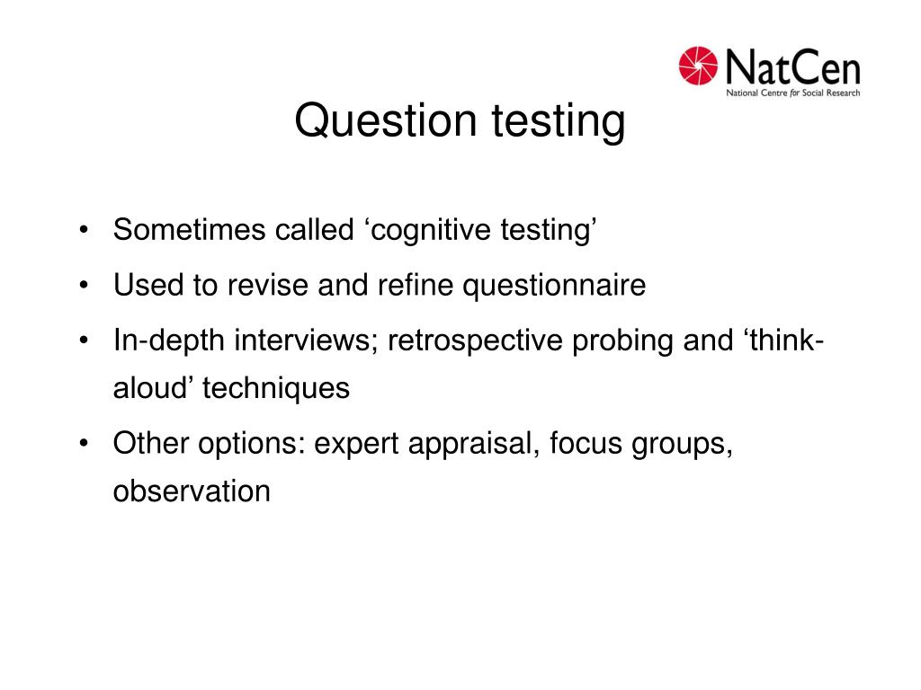 Question testing