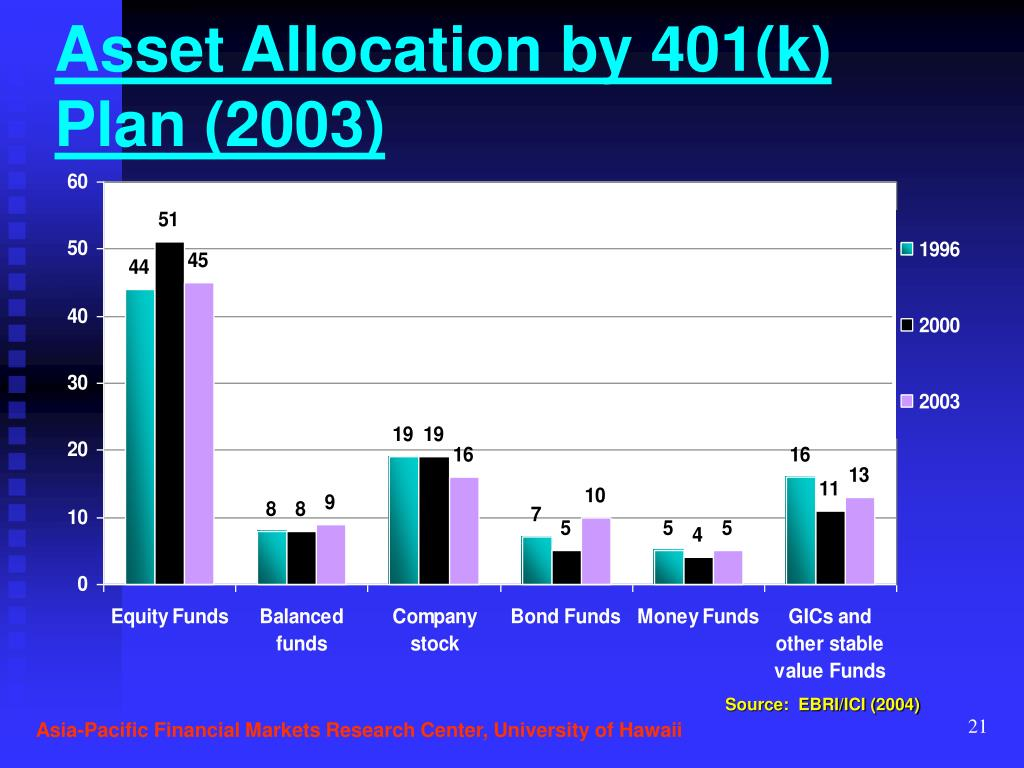 Asset Allocation by 401(k) Plan (2003)