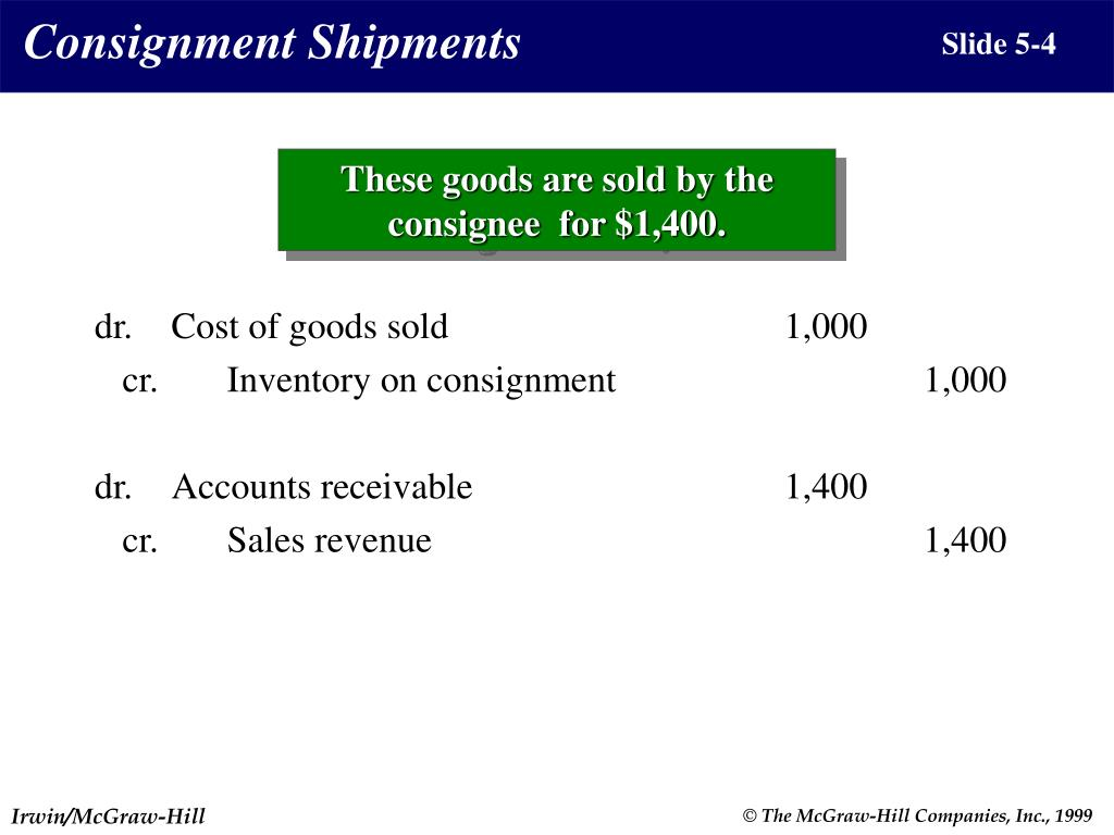Consignment Shipments