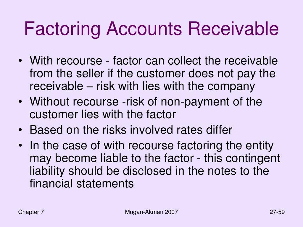 Factoring Accounts Receivable