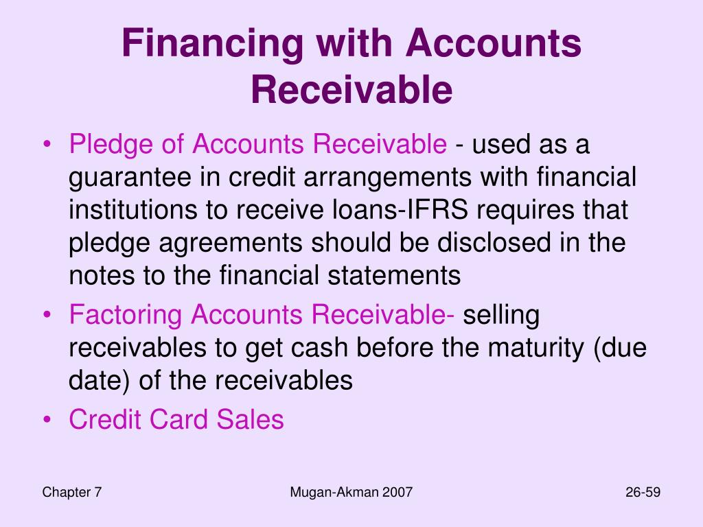 Financing with Accounts Receivable