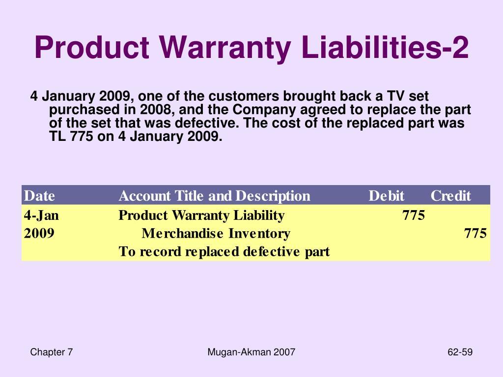 Product Warranty Liabilities-2