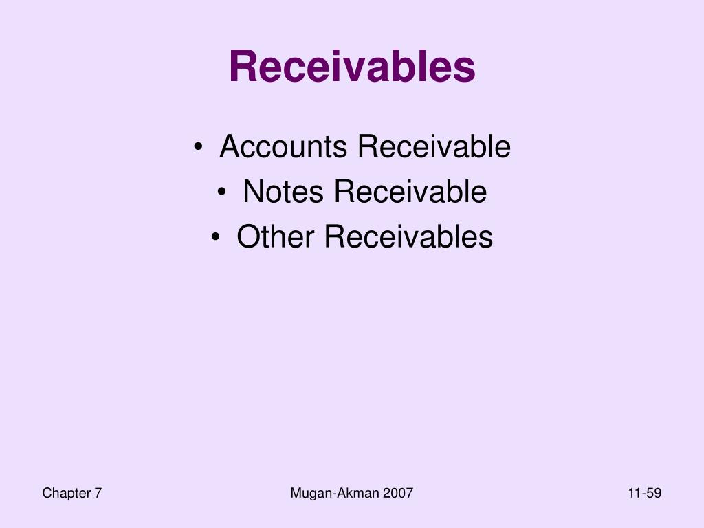 Receivables
