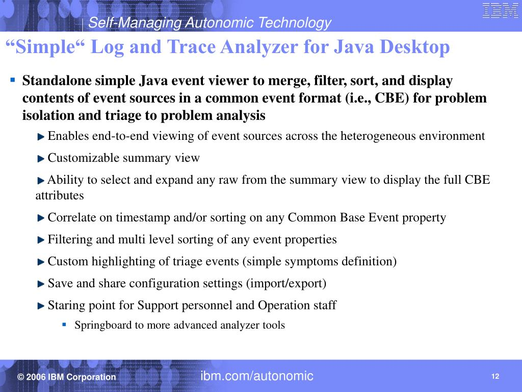 """""""Simple"""" Log and Trace Analyzer for Java Desktop"""