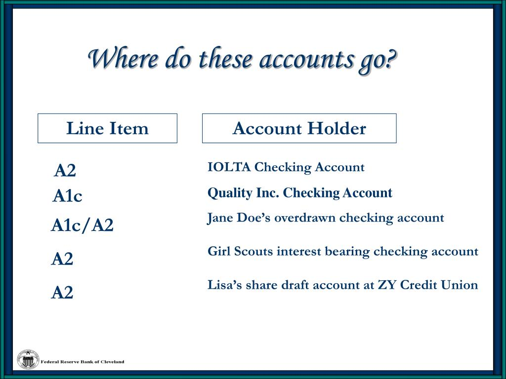 Where do these accounts go?