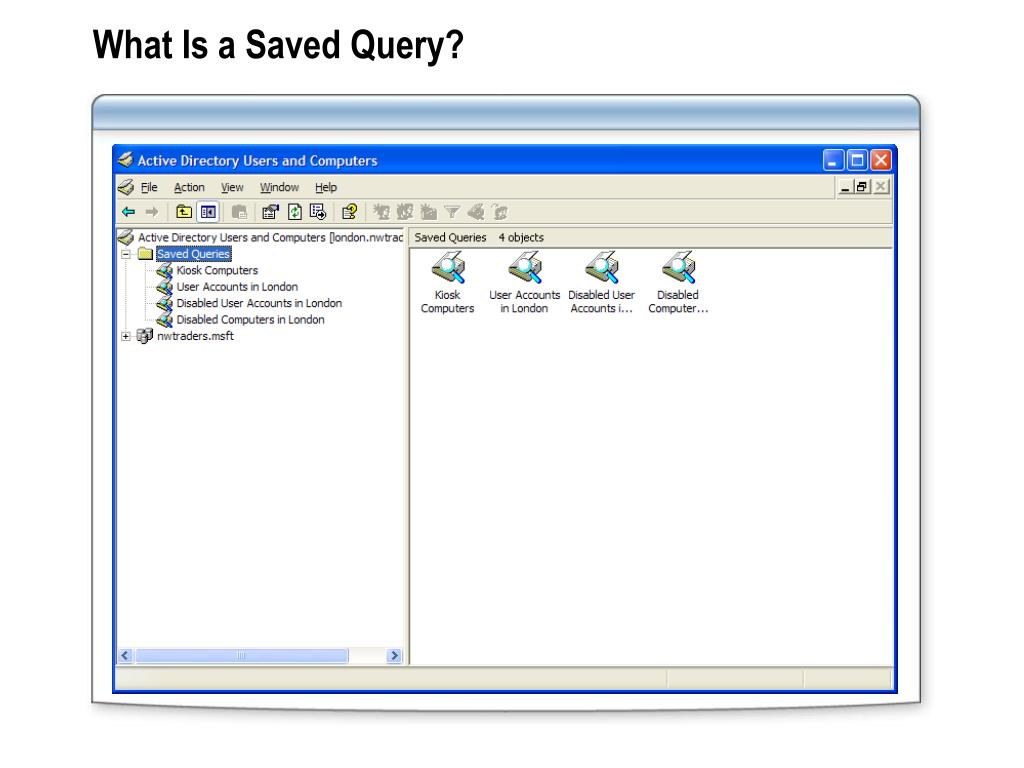 What Is a Saved Query?