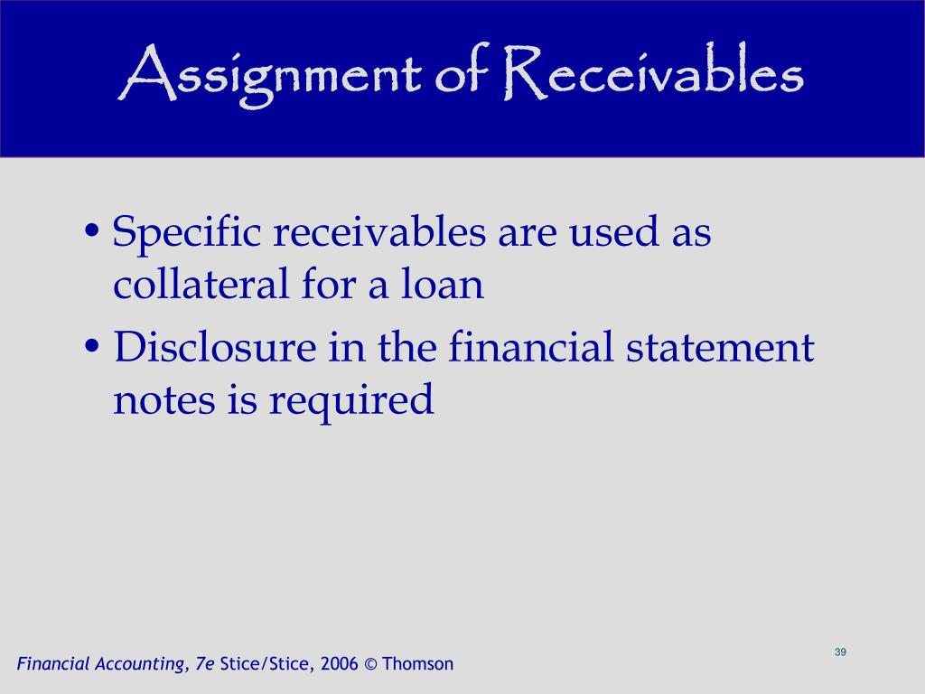 Assignment of Receivables